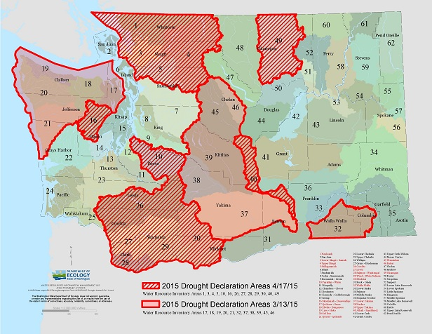 04172015 drought areas - dept of ecology