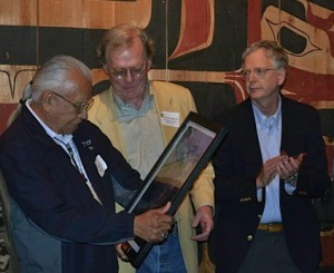 Chairman Billy Frank Jr. accepting the award in 2012 on behalf of the NW Indian Fisheries Commission