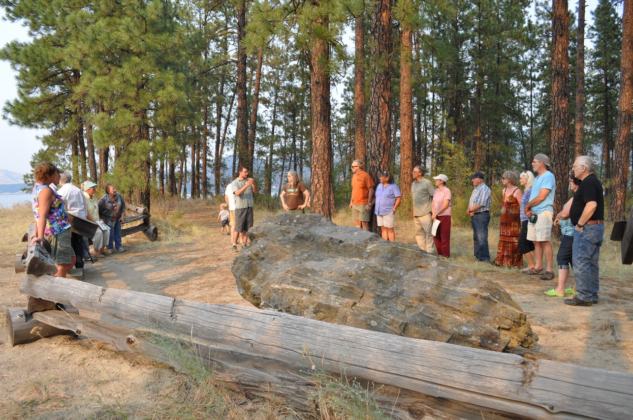 Adam Wicks-Arshack begins the prayer vigil at Fort Colville, Kettle Falls, WA. Photo by John Roskelley.