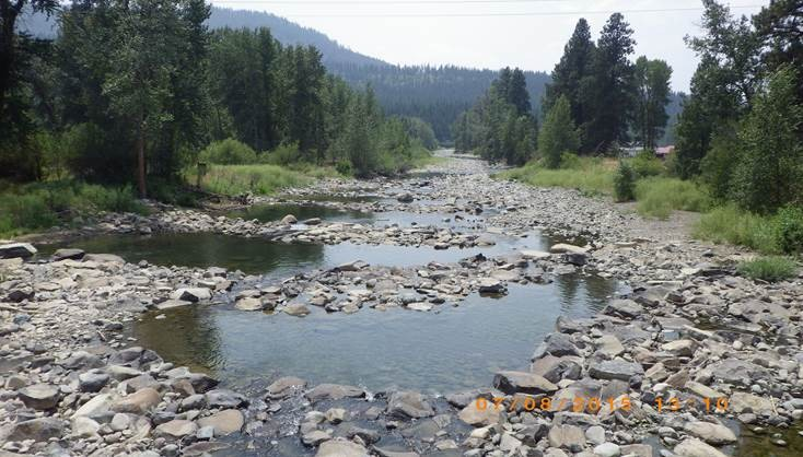 Teanaway River, tributary of the Yakima River, running very low - Photo from WA Dept of Ecology